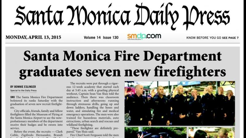 Santa Monica Fire Department Graduates Seven New Firefighters